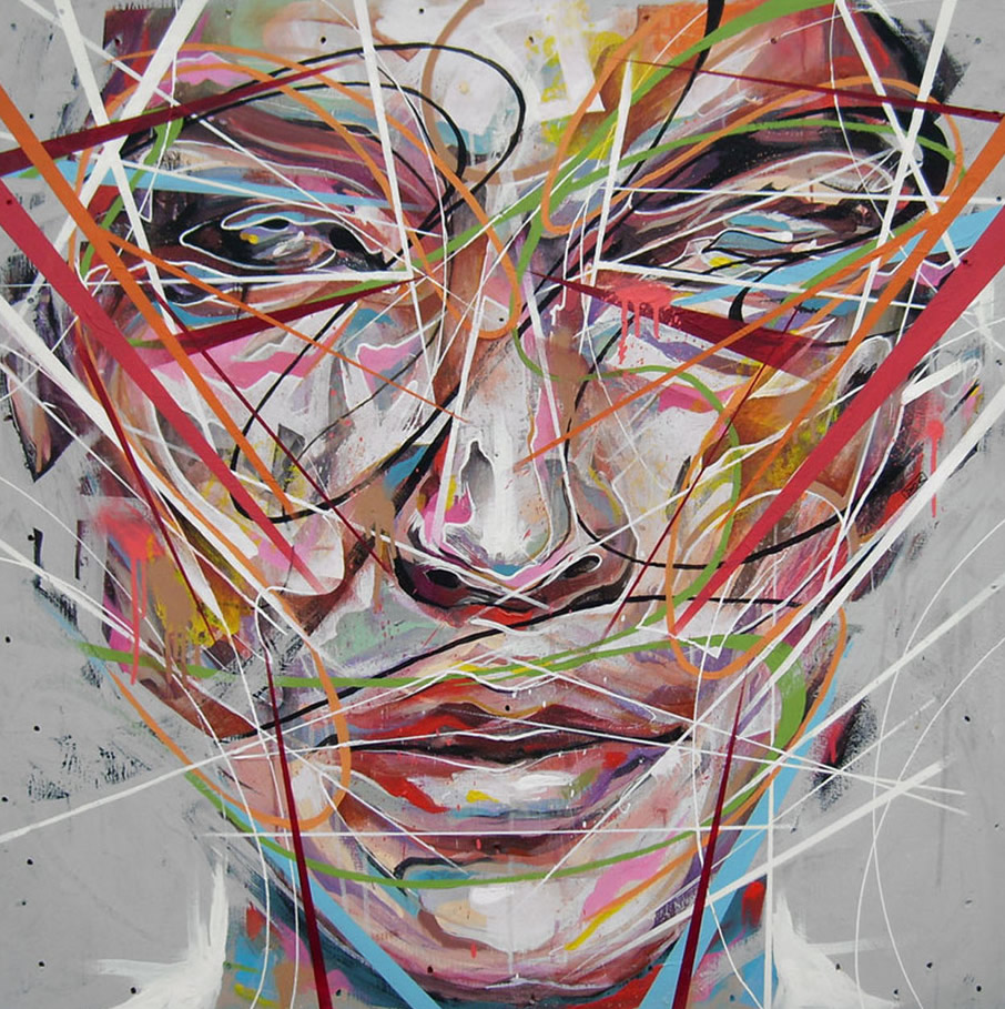 Modern Art Line Painting : Danny o connor liverpool uk artist painters