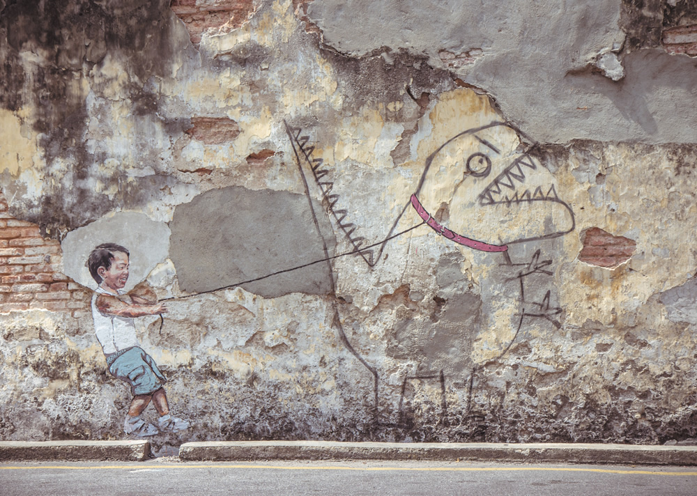 Ernest Zacharevic - George Town, Malaysia artist